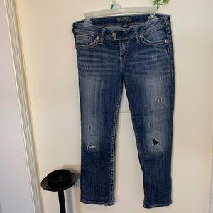 Silver Tuesday Rose Capri Jeans
